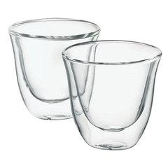 Набор кофейный DELONGHI для эспрессо на 2 персоны, стекло, 60 мл, прозрачный