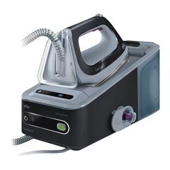 Парогенератор BRAUN IS5044, 2400 Вт, 6,5 Бар, пар 125 г/мин., паровой удар 360 г/мин., 1,4 л, черный/серый