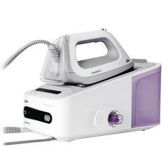 Парогенератор BRAUN IS7043WH, 2400 Вт, 7 Бар, пар 125 г/мин, паровой удар 400 г/мин, 2 л, белый/фиолетовый