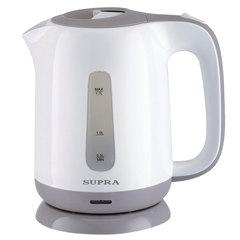 Чайник SUPRA KES-1724, 1,7 л, 2200 Вт, закрытый нагревательный элемент, пластик, белый/серый