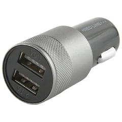 Зарядное устройство автомобильное, RED LINE C20, кабель для IPhone (iPad) 1м, 2 порта USB, выходной ток 2,1 А, черное