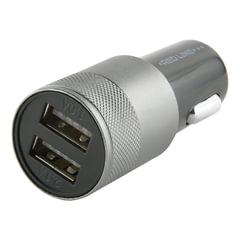 Зарядное устройство автомобильное RED LINE C20, кабель Type-C 1 м, 2 порта USB, выходной ток 2,1 А, черное