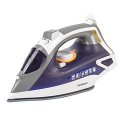 Утюг SONNEN SI-240, 2600 Вт, керамическое покрытие, антикапля, антинакипь, фиолетовый