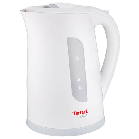 Чайник TEFAL KO270130, 1,7 л, 2400 Вт, закрытый нагревательный элемент, пластик, белый/серый