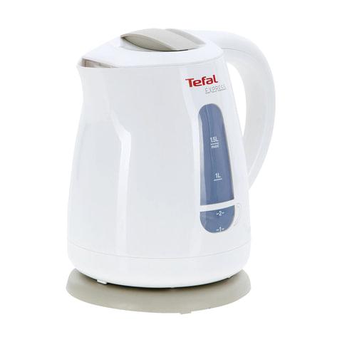 Чайник TEFAL KO29913E, 1,5 л, 2200 Вт, закрытый нагревательный элемент, пластик, белый