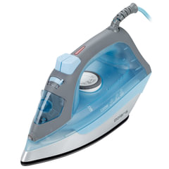 Утюг POLARIS PIR-2263, 2200 Вт, терморегулятор, антипригарное покрытие, самоочистка, голубой