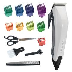 Машинка для стрижки волос REMINGTON HC5035, 10 установок длины, 9 насадок, сеть, белая