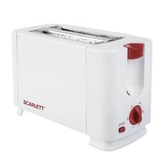 Тостер SCARLETT SC-TM11013, 700 Вт, 2 тоста, 6 режимов, сталь, белый