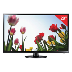 "Телевизор SAMSUNG 28"" (71,1 см), UE28J4100, LED, 1366x768 HD, 16:9, 100 Гц, HDMI, USB, черный, 4 кг"