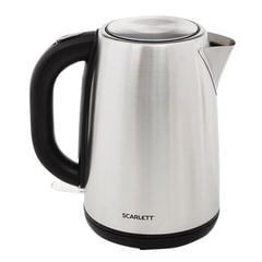 Чайник SCARLETT SC-EK21S49, 1,7 л, 2200 Вт, закрытый нагревательный элемент, сталь
