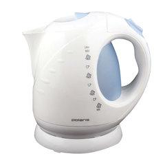 Чайник POLARIS PWK 2013C, 2 л, 2000 Вт, закрытый нагревательный элемент, пластик, белый/голубой