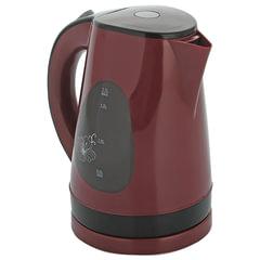 Чайник SUPRA KES-1708, 1,7 л, 2200 Вт, закрытый нагревательный элемент, пластик, вишневый/черный