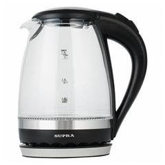 Чайник SUPRA KES-2003N, 1,7 л, 2200 Вт, закрытый нагревательный элемент, стекло, черный