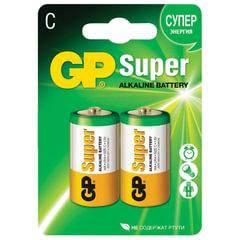 Батарейки GP Super, С (LR14, 14А), алкалиновые, комплект 2 шт., в блистере