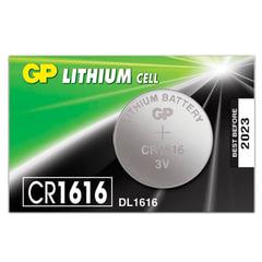 Батарейка GP Lithium, CR1616, литиевая, 1 шт., в блистере (отрывной блок)