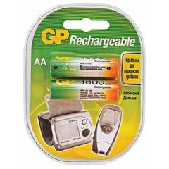 Батарейки аккумуляторные GP, АА, Ni-Mh, 1800 mAh, комплект 2 шт., в блистере