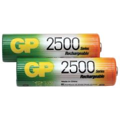 Батарейки аккумуляторные GP, АА, Ni-Mh, 2500 mAh, комплект 2 шт., в блистере