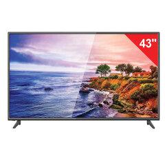 Телевизор ERISSON 43FLM8000T2, 43'' (108 см), 1920х1080, FullHD, 16:9, черный