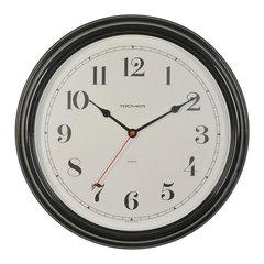 Часы настенные TROYKA 88880886, круг, белые, черная рамка, 31х31х4,5 см