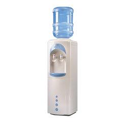Кулер для воды AEL LC-AEL-17B, напольный, нагрев/охлаждение, холодильник 16 л, 2 крана, белый