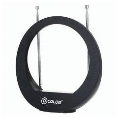 Антенна телевизионная D-COLOR DCA-103А, активная, усилитель 28 дБ, кабель 1,35 м, блок питания