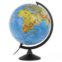 Глобус физический/политический Globen Классик, диаметр 320 мм, с подсветкой, рельефный
