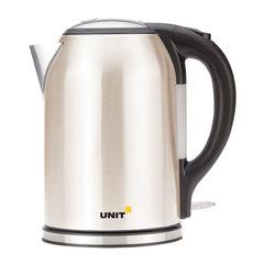 Чайник UNIT UEK-270, 1,8 л, 2000 Вт, закрытый нагревательный элемент, сталь, бежевый