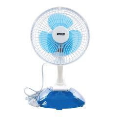 Вентилятор настольный MYSTERY MSF-2443, d=15 см, 15 Вт, 2 скоростных режима, белый/синий