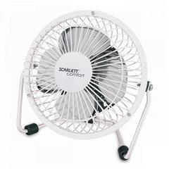 Вентилятор настольный SCARLETT SC - DF111S94, d=12 см, 2,5 Вт, USB, металлический корпус, серый