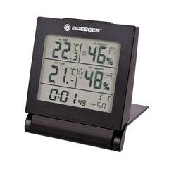 Метеостанция BRESSER MyTime Travel AlarmClock, термодатчик, гигрометр, будильник, календарь, черный