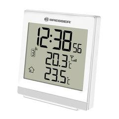 Метеостанция BRESSER TemeoTrend SQ, термодатчик, часы, будильник, белый