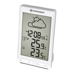 Метеостанция BRESSER TemeoTrend STX, термодатчик, часы, будильник, белый