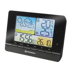 Метеостанция BRESSER MeteoTrend Colour, термодатчик, гигрометр, часы, будильник, черный