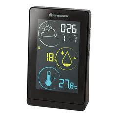 Метеостанция BRESSER Temeo Life H, термодатчик, гигрометр, часы, будильник, календарь, черный