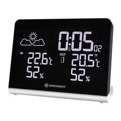 Метеостанция BRESSER Temeo TB, термодатчик, гигрометр, часы, будильник, черный