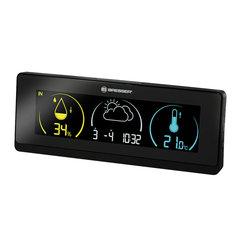 Метеостанция BRESSER Temeo Life, термодатчик, гигрометр, часы, будильник, календарь, черный
