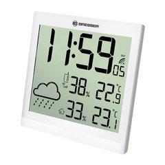 Метеостанция BRESSER TemeoTrend JC LCD, термодатчик, гигрометр, часы, будильник, белый