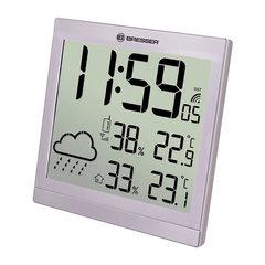 Метеостанция BRESSER TemeoTrend JC LCD, термодатчик, гигрометр, часы, будильник, серебро