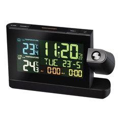 Метеостанция BRESSER, проекционная, термодатчик, часы, будильник, календарь, черный