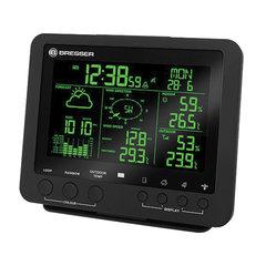 Метеостанция BRESSER 5 в 1, термодатчик, гигрометр, барометр, ветромер, дождемер, будильник, черный