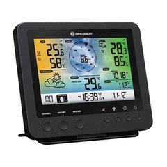 Метеостанция BRESSER 5в1 Wi-Fi, термодатчик, гигрометр, барометр, ветромер, дождемер, будильник, черный