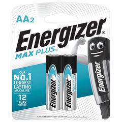 Батарейки ENERGIZER Max Plus, AA (LR06, 15А), алкалиновые, КОМПЛЕКТ 2 шт., в блистере