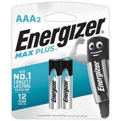 Батарейки ENERGIZER Max Plus, AAA (LR03, 24А), алкалиновые, КОМПЛЕКТ 2 шт., в блистере
