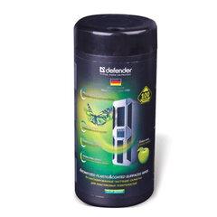 Чистящие салфетки DEFENDER CLN30333, влажные, с запахом яблока, для пластика, в тубе, 100 шт.