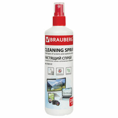 Чистящая жидкость-спрей BRAUBERG для экранов всех типов и оптики, универсальная, 250 мл, 510117