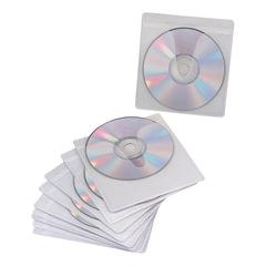 Конверты для CD/DVD BRAUBERG, комплект 10 шт., на 1CD/DVD, самоклеящиеся, с европодвесом