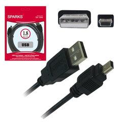Кабель USB - mini USB (5P) SPARKS, 1,8 м, для подключения портативных устройств
