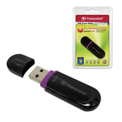 Флэш-диск 16 GB, TRANSCEND JetFlash 300, USB 2.0, черный