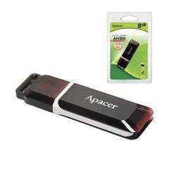 Флэш-диск 8 GB, APACER Handy Steno AH321, USB 2.0, карминно-красный