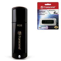 Флеш-диск 4 GB, TRANSCEND Jet Flash 350, USB 2.0, черный, TS4GJF350